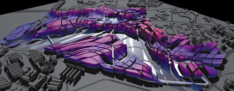 """Patrick Schumacher of Zaha Hadid Architects wrote about the influence of BIM and parametric software in the Parametricist Manifesto, recognizing the impact of software on style in avant-garde design."" Image via the Parametricisit Manifesto."