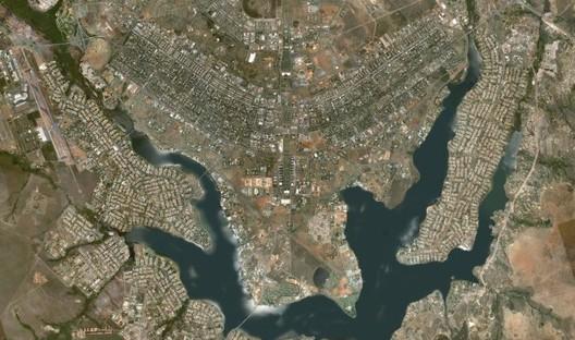 Aerial View of Brasilia: Capital of Brazil