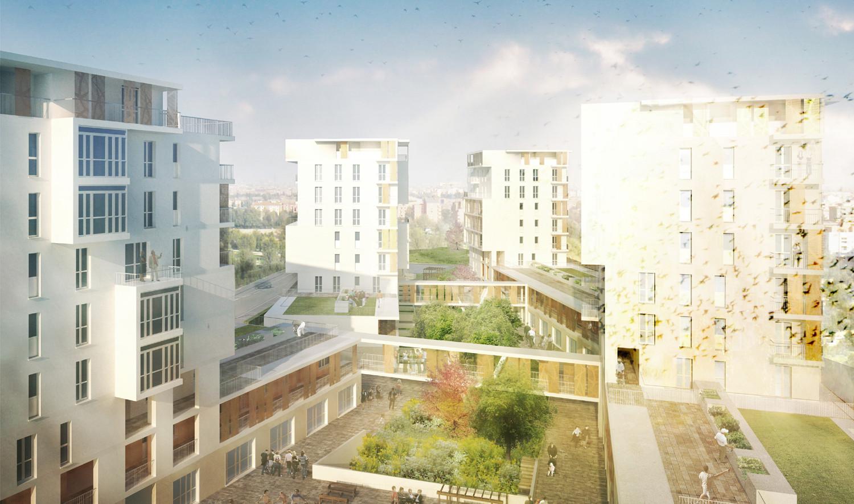 Primer premio concurso internacional vivienda social una for Vivienda arquitectura