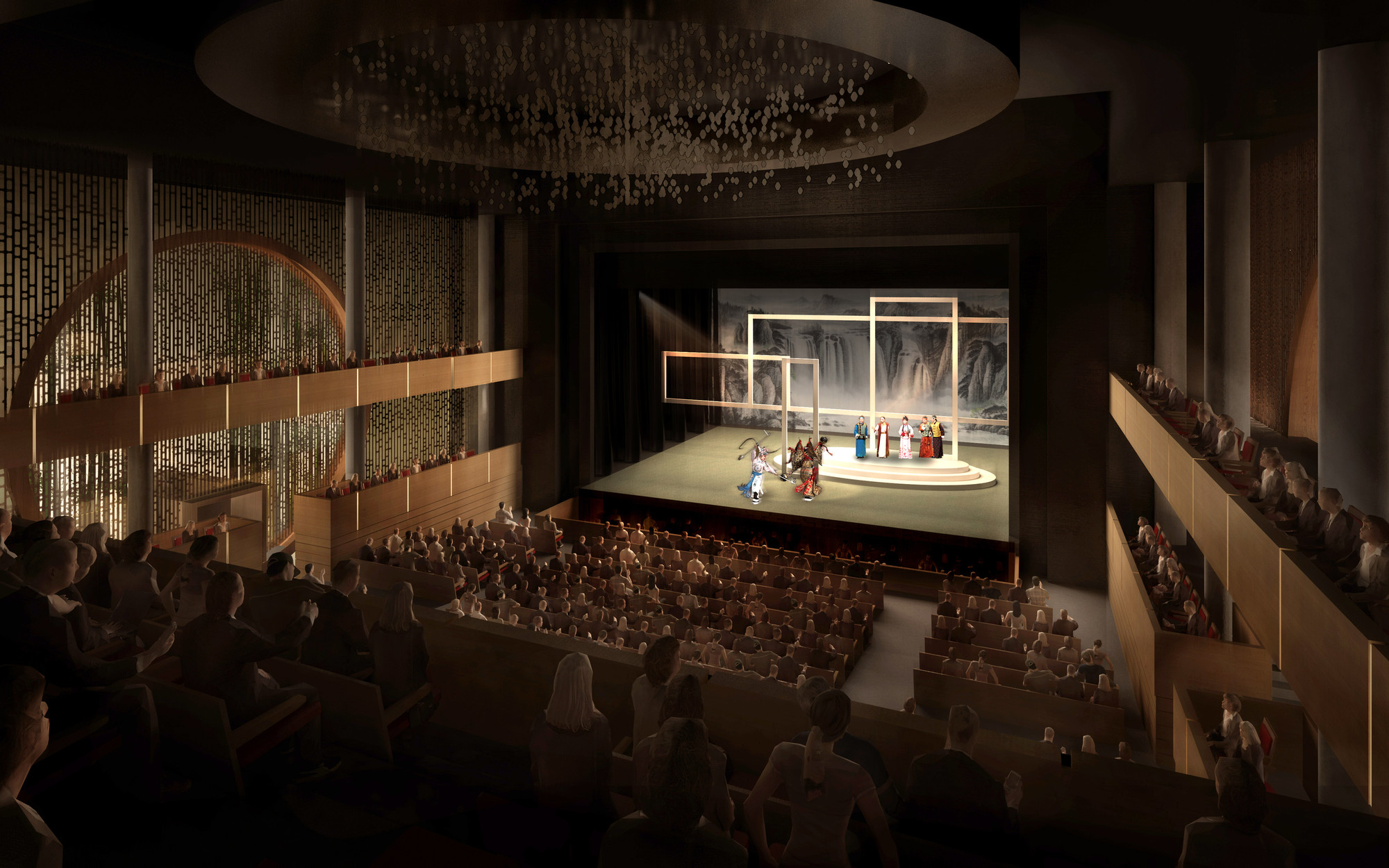 Xiqu Center Winning Design / Bing Thom Architects + Ronald Lu & Partners