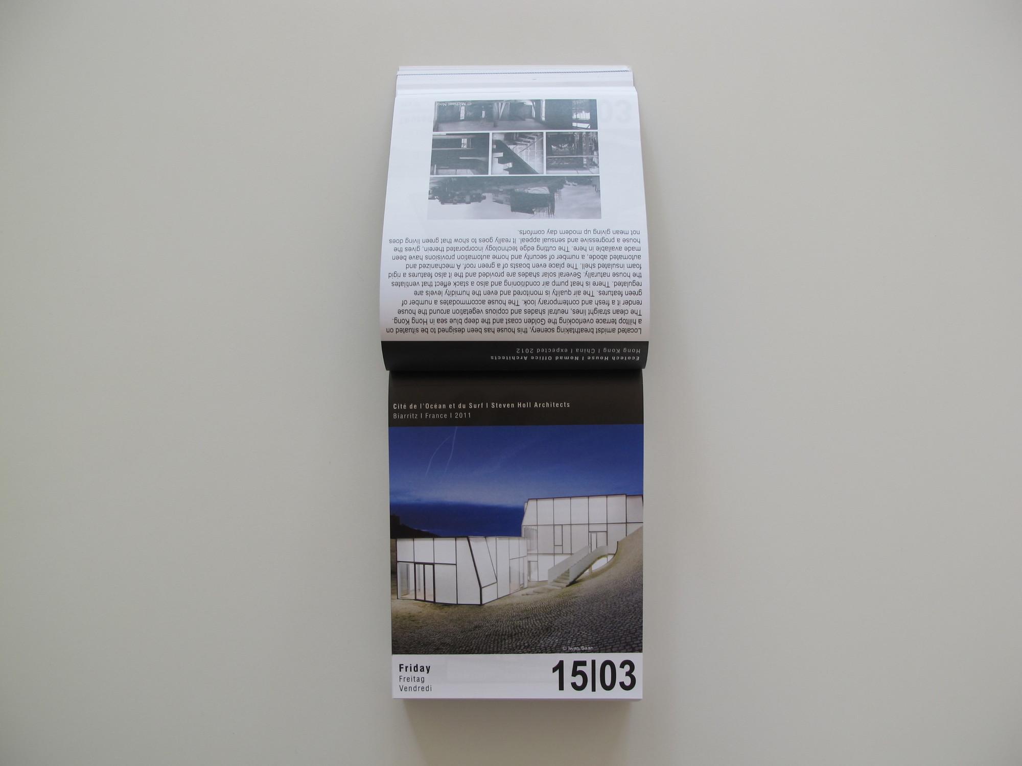 2013 ARCHIPEDIUM Architectural Calendar