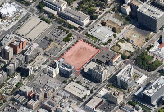 The Courthouse Site in Los Angeles - Image courtesy of Google Maps