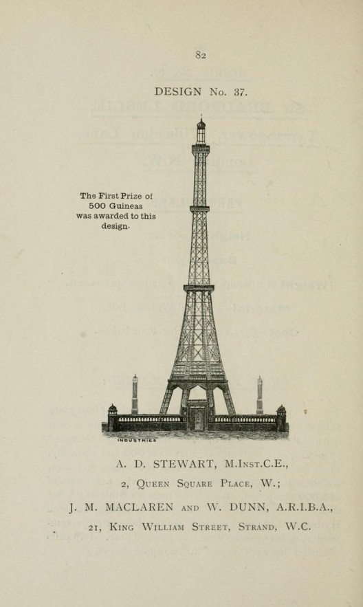 Cortesia de © Descriptive illustrated catalogue of the sixty-eight competitive designs for the great tower for London compiled and edited by Fred. C. Lynde --