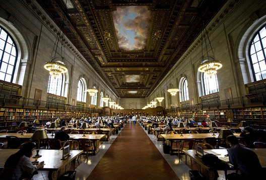 The Rose Reading Room of the New York Public Library. Image via Flickr User Brother O'Mara.