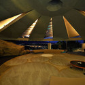 The Elrod House by Architect John Lautner. Image via Expoint Realty.