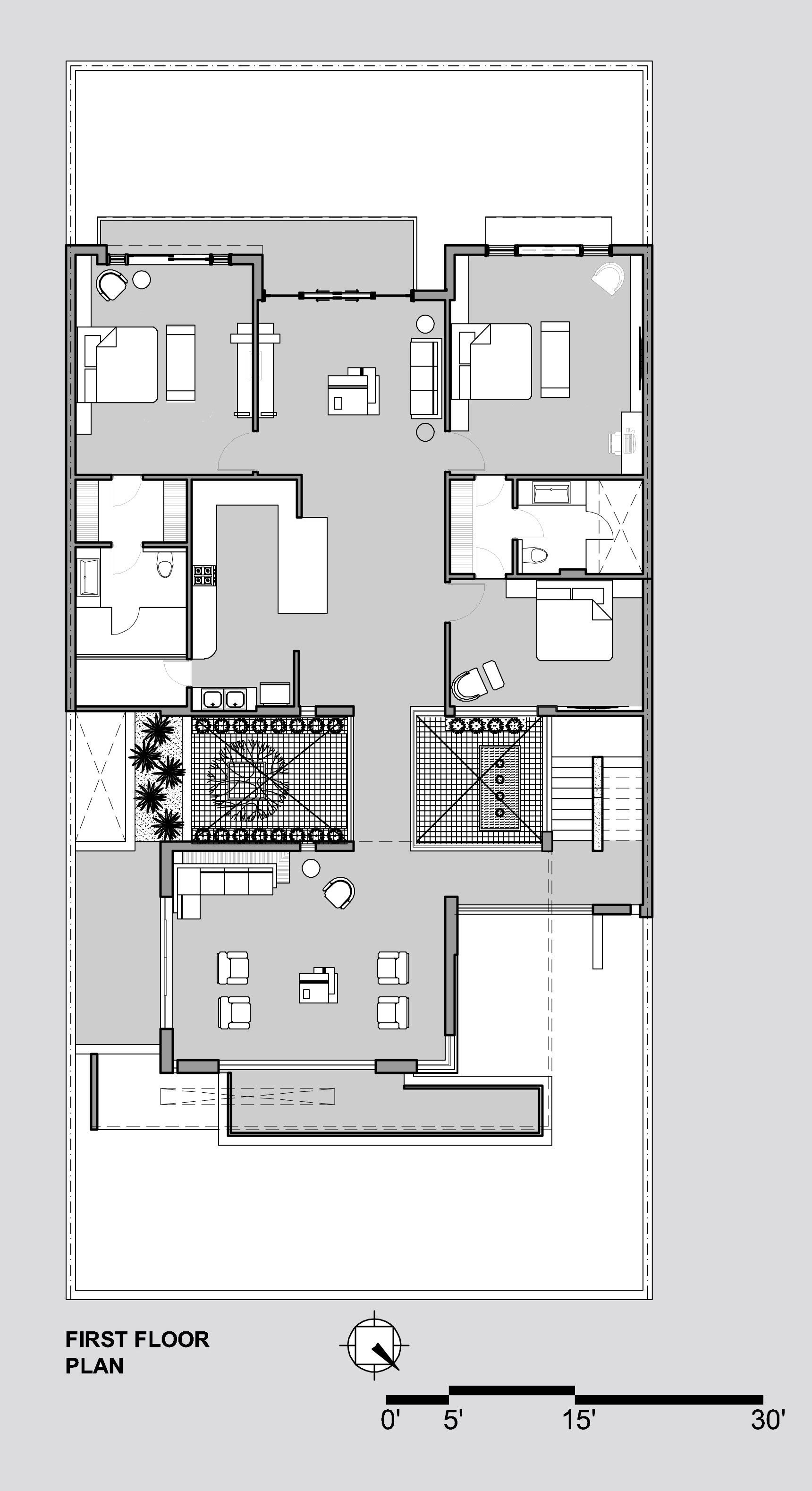 300 Sq Ft Apartment Floor Plan Gallery Of Twin Courtyard House Charged Voids 17