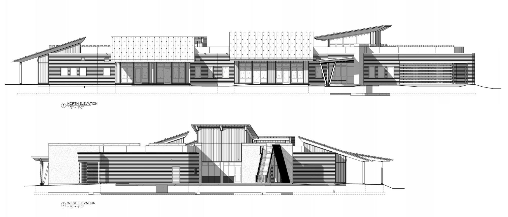 Gallery of teton county children 39 s learning center ward for Architecture elevation