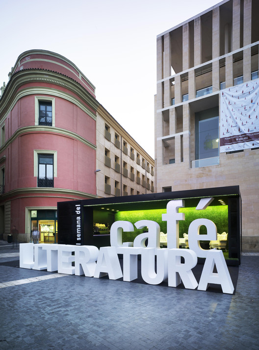 Coffee and literature stand clavel arquitectos archdaily - Clavel arquitectos ...