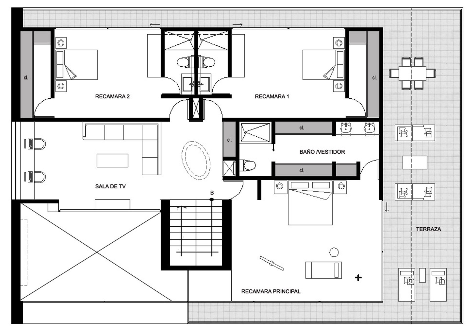 Mexican house layout