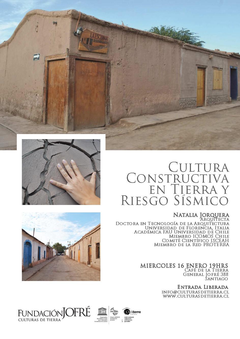 """Charla """"Cultura Constructiva en Tierra y Riesgo Sísmico"""", Charla """"Cultura Constructiva en Tierra y Riesgo Sísmico"""""""