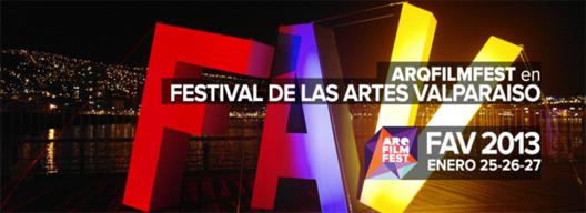 ARQFILMFEST en festival de las artes de Valparaíso / 25 – 27 de Enero, © Arqfilmfest