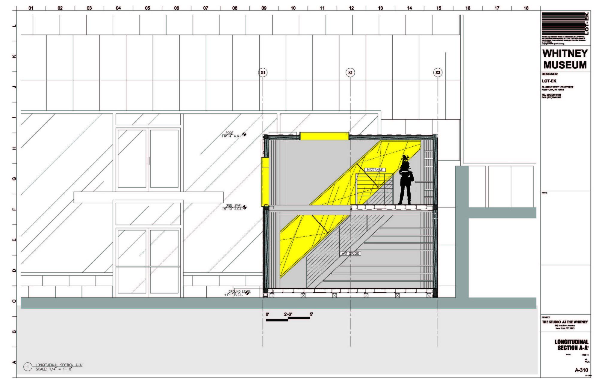 Gallery of whitney studio lot ek architecture design 11 for Studio 11 architecture