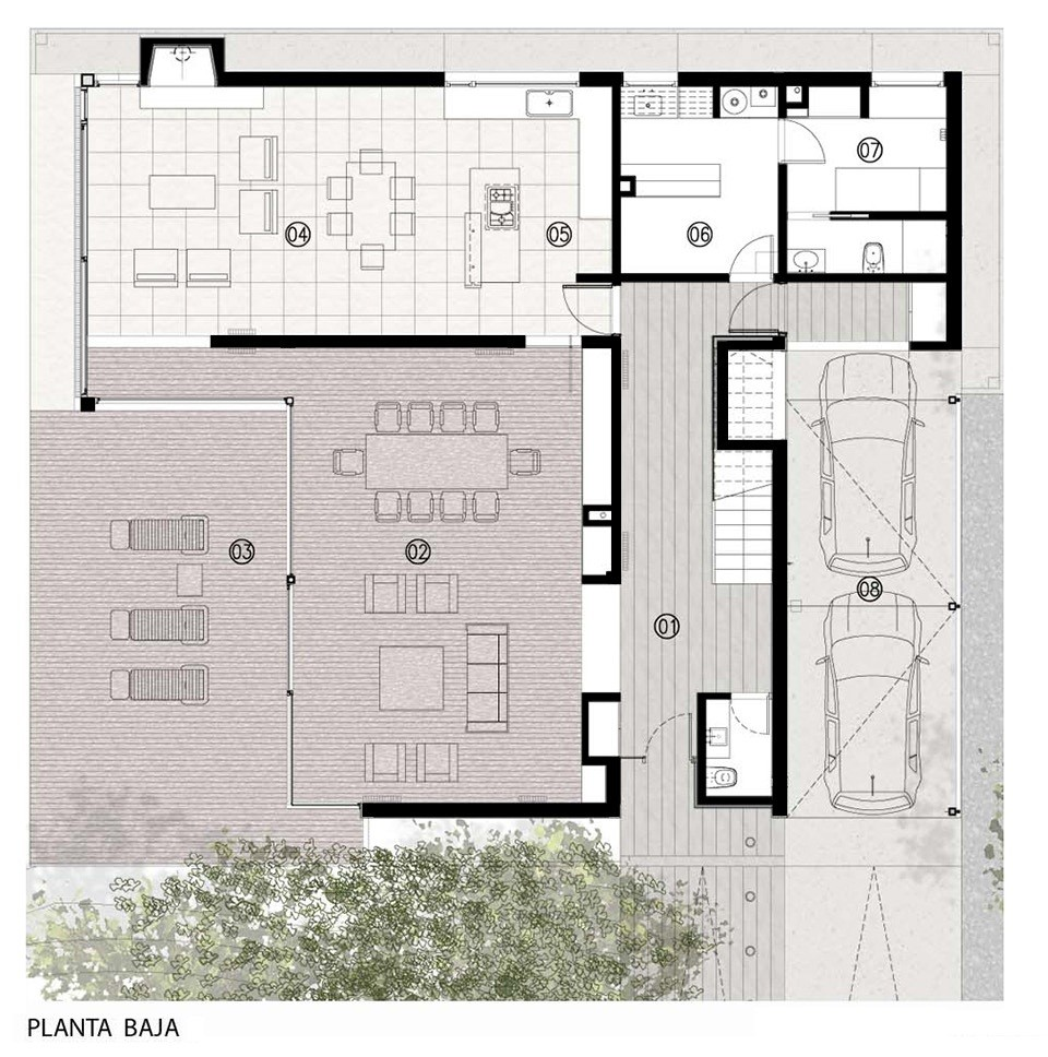 Gallery of house mp estudio gmarq 21 for Planos de casas de planta baja