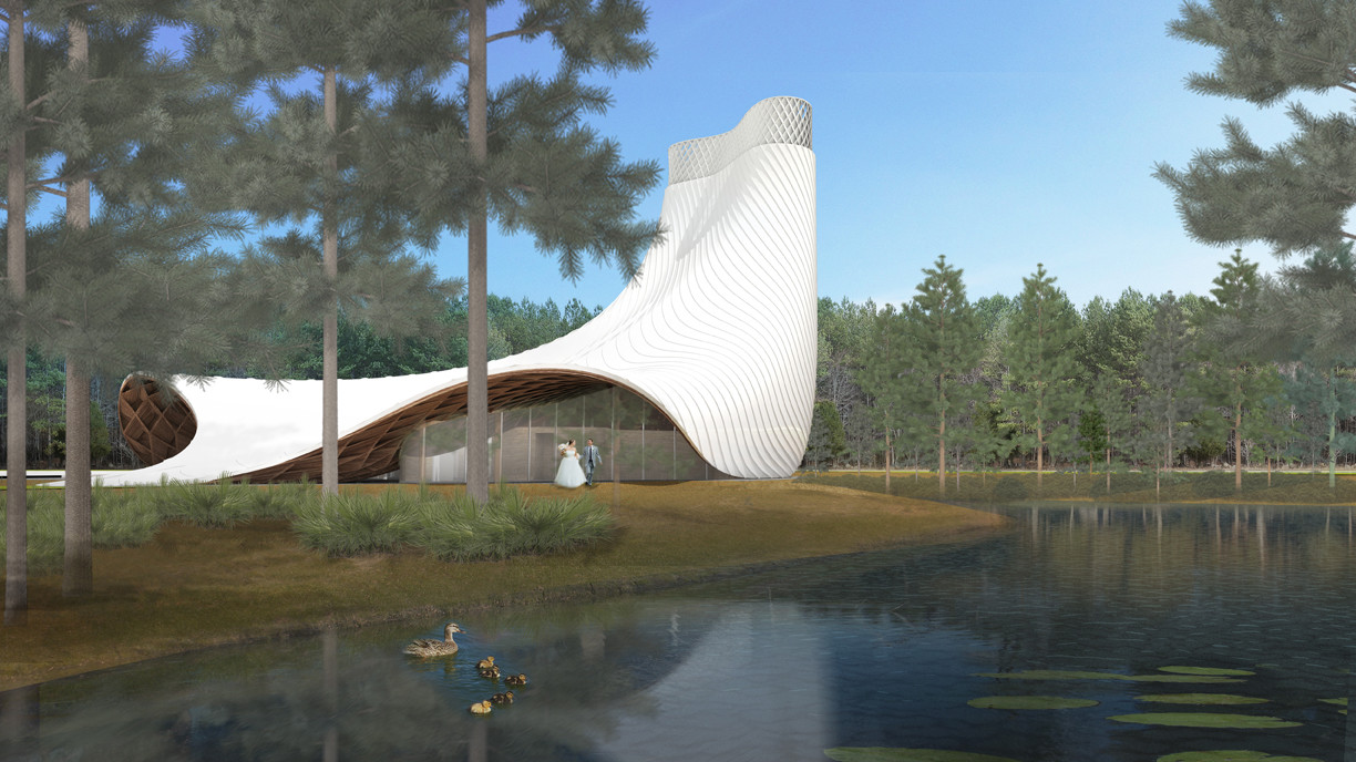 Brooks + Scarpa design Interfaith Chapel in Florida