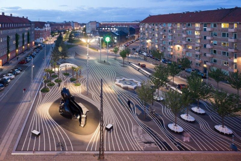 Superkilen masterplan designed by BIG + Topotek1 + Superflex Honored by AIA