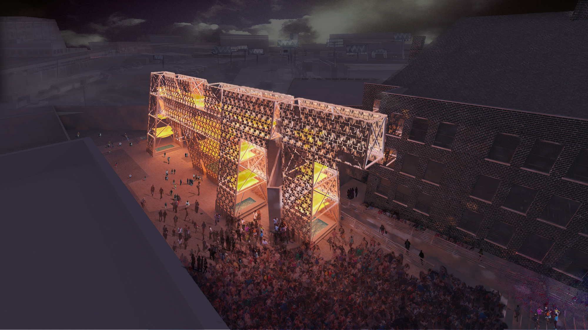 CODA wins P.S.1 with Skateboard Scrap 'Party Wall'