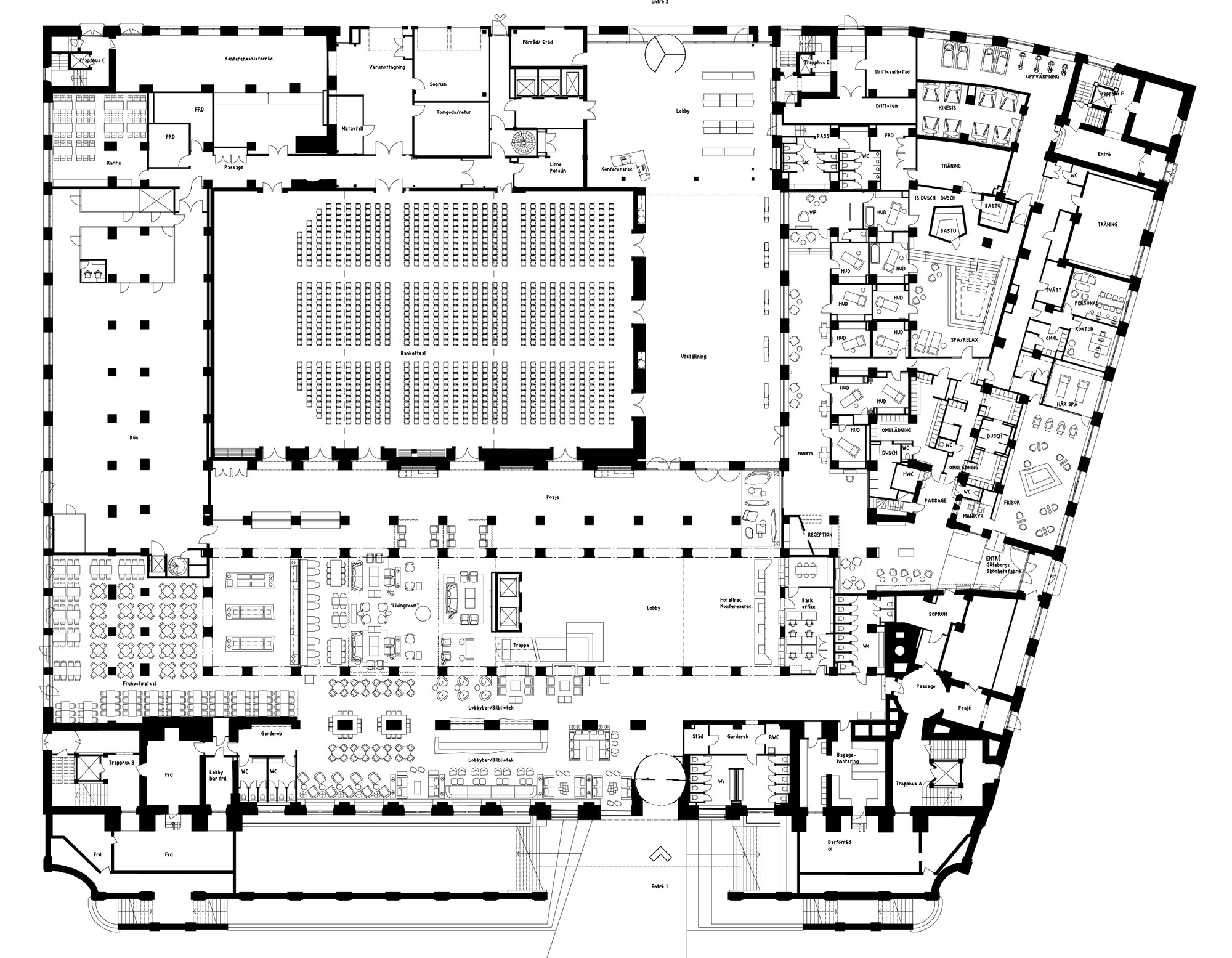 large hotel floor plans