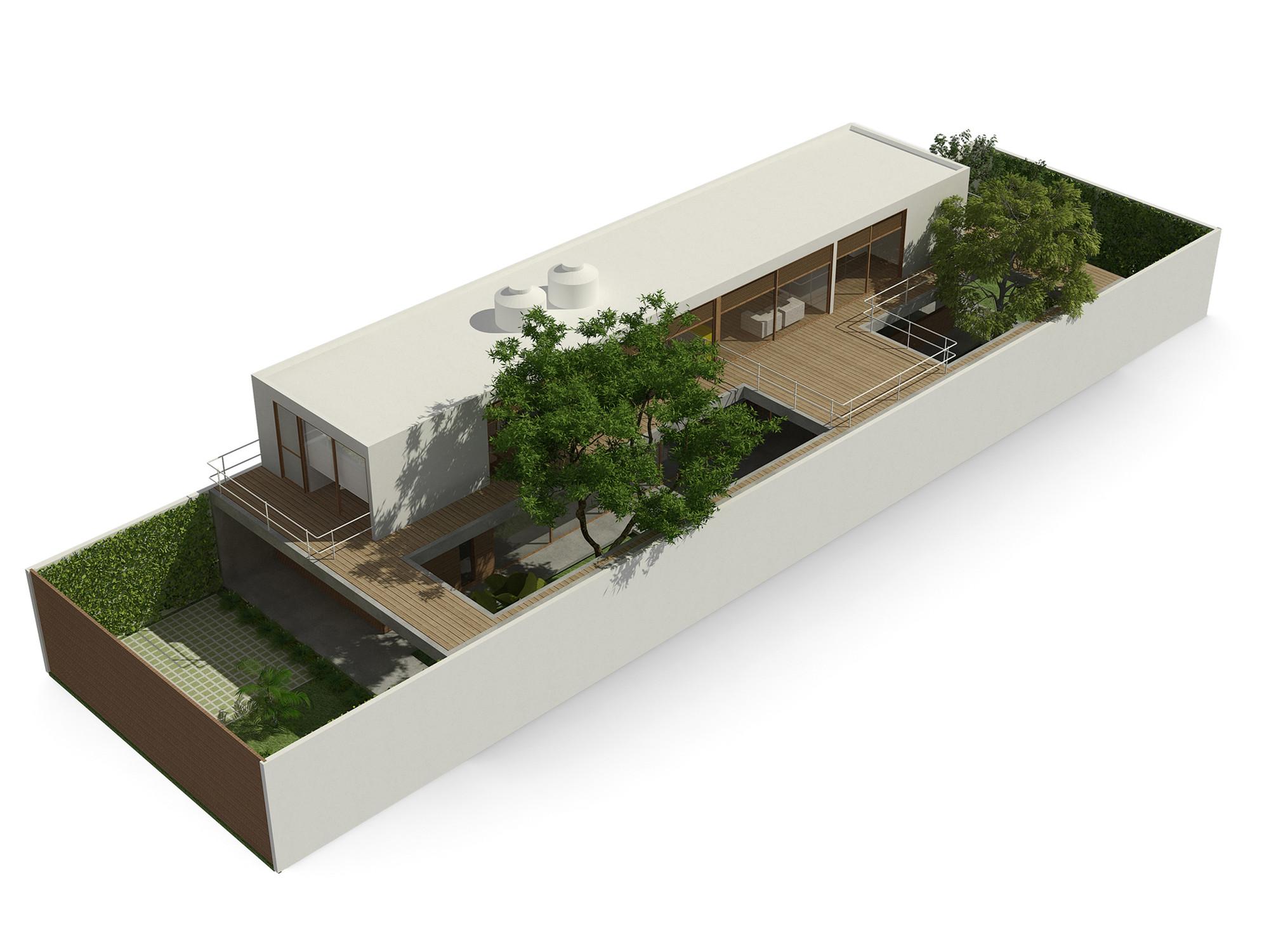 Galeria de casa 10x38 cr2 arquitetura 6 for Wohnlandschaft 2 50 m