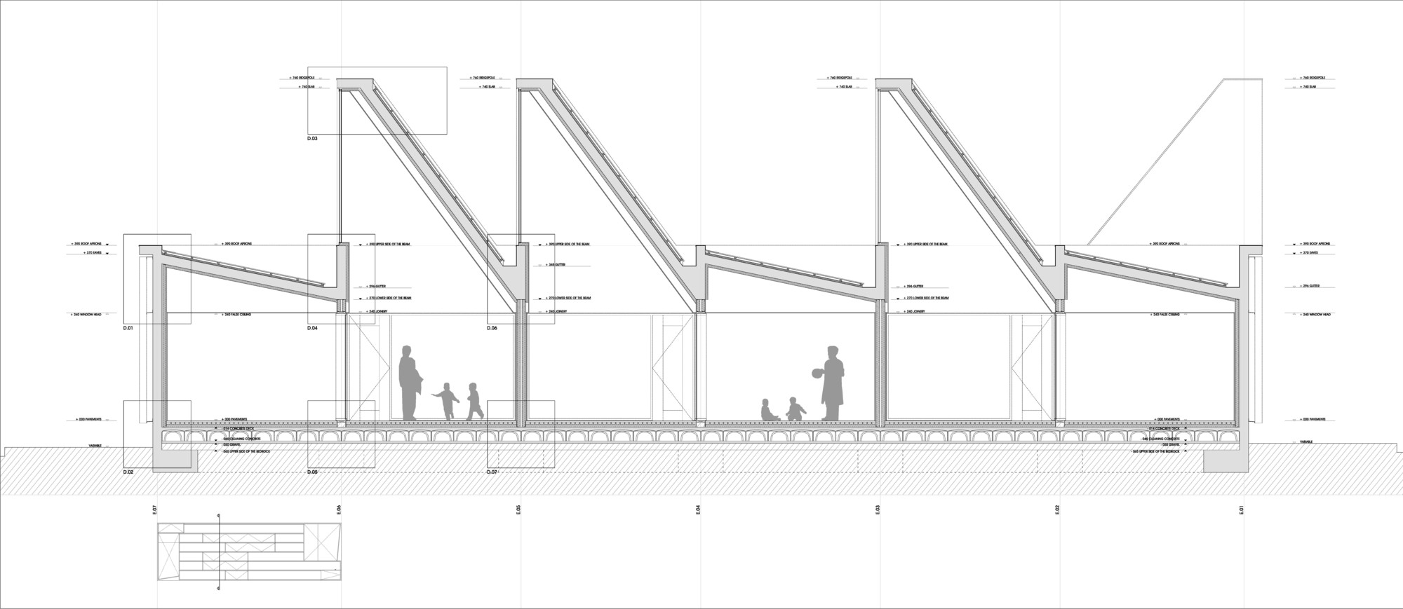 Building sections of the nondiscriminat