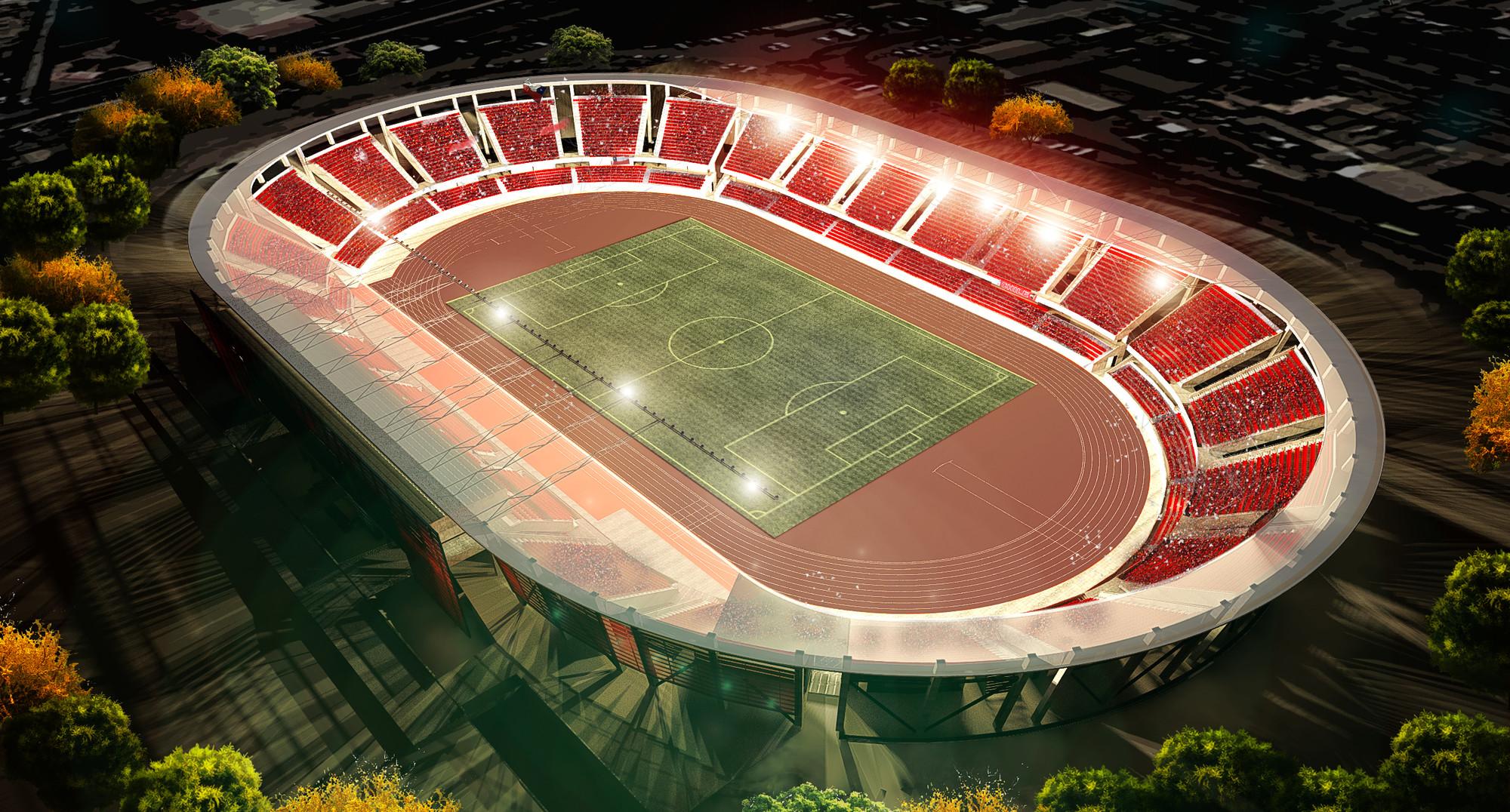 """Estadio """"La Portada"""" de La Serena, Cortesia de laserena.cl"""