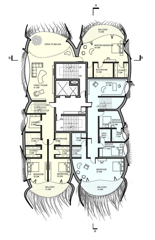 Plan 02; Courtesy of B+U