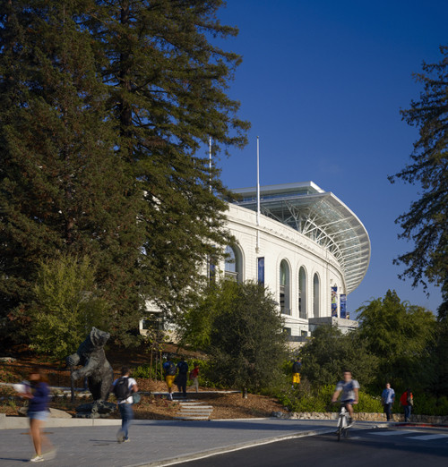 UC Berkeley's Memorial Stadium, Athletic Center and Plaza; Photograph © Tim Grifftih