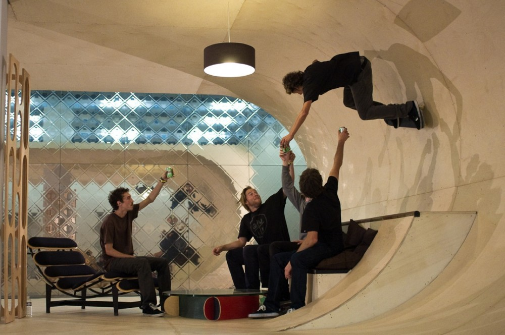 PAS House, by Francois Perrin and Gil Lebon Delapointe. Image courtesy of Skateboarder Magazine.