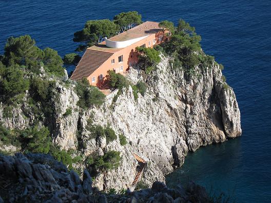 Casa Malaparte, given new life by Jean-Luc Godard's film Contempt. Image ©Flickr User CC Sean Munson