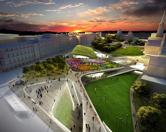 Diller Scofidio + Renfro's Aberdeen Garden City Proposal Nixed, Courtesy of DS + R