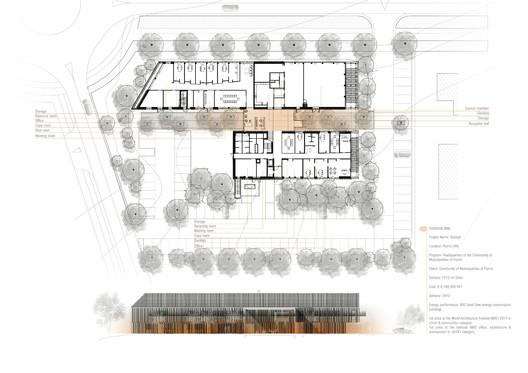 Plan + facade