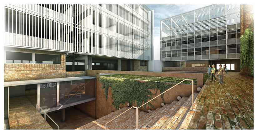 """Segundo Lugar Concurso """"Hacia una Nueva Arquitectura Escolar"""" / Mariano Alonso + Ludmilla Crippa + Ariel Jinchuk , Cortesia de Alonso, Crippa, Jinchuk"""