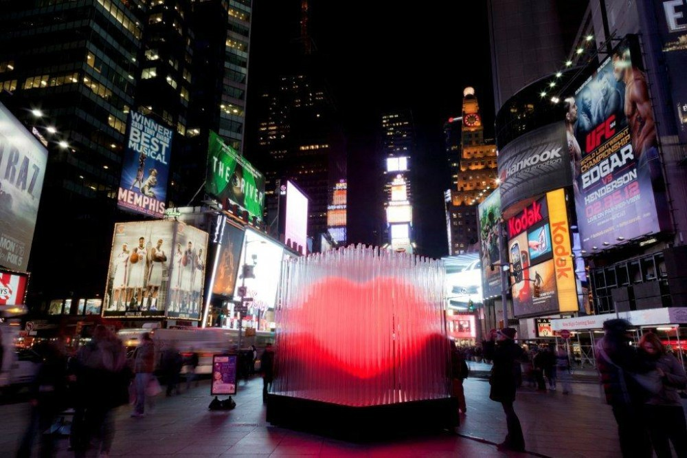 How Our Cities Keep Us Single (And Why That Has to Change), BIG's 2012 Valentine's Day installation in New York City. Image © Ho Kyung Lee