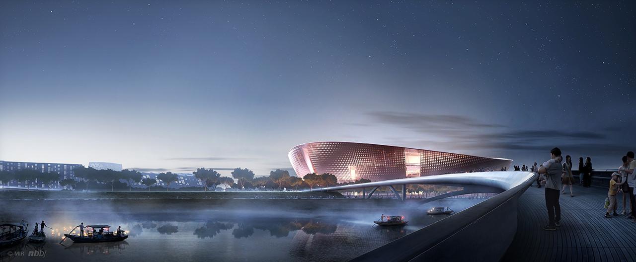 Stadium View from River © NBBJ