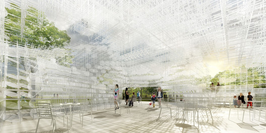 Serpentine Gallery Pavilion 2013 Designed by Sou Fujimoto Interior Indicative CGI