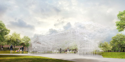Serpentine Gallery Pavilion 2013 Designed by Sou Fujimoto Exterior Indicative CGI