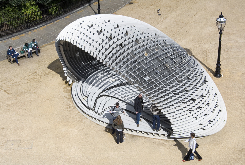The Indicator: Craft in the Digital Age, DRL10 [C]Space Pavilion by Synthesis Design + Architecture in collaboration with Alan Dempsey. Image, SDA