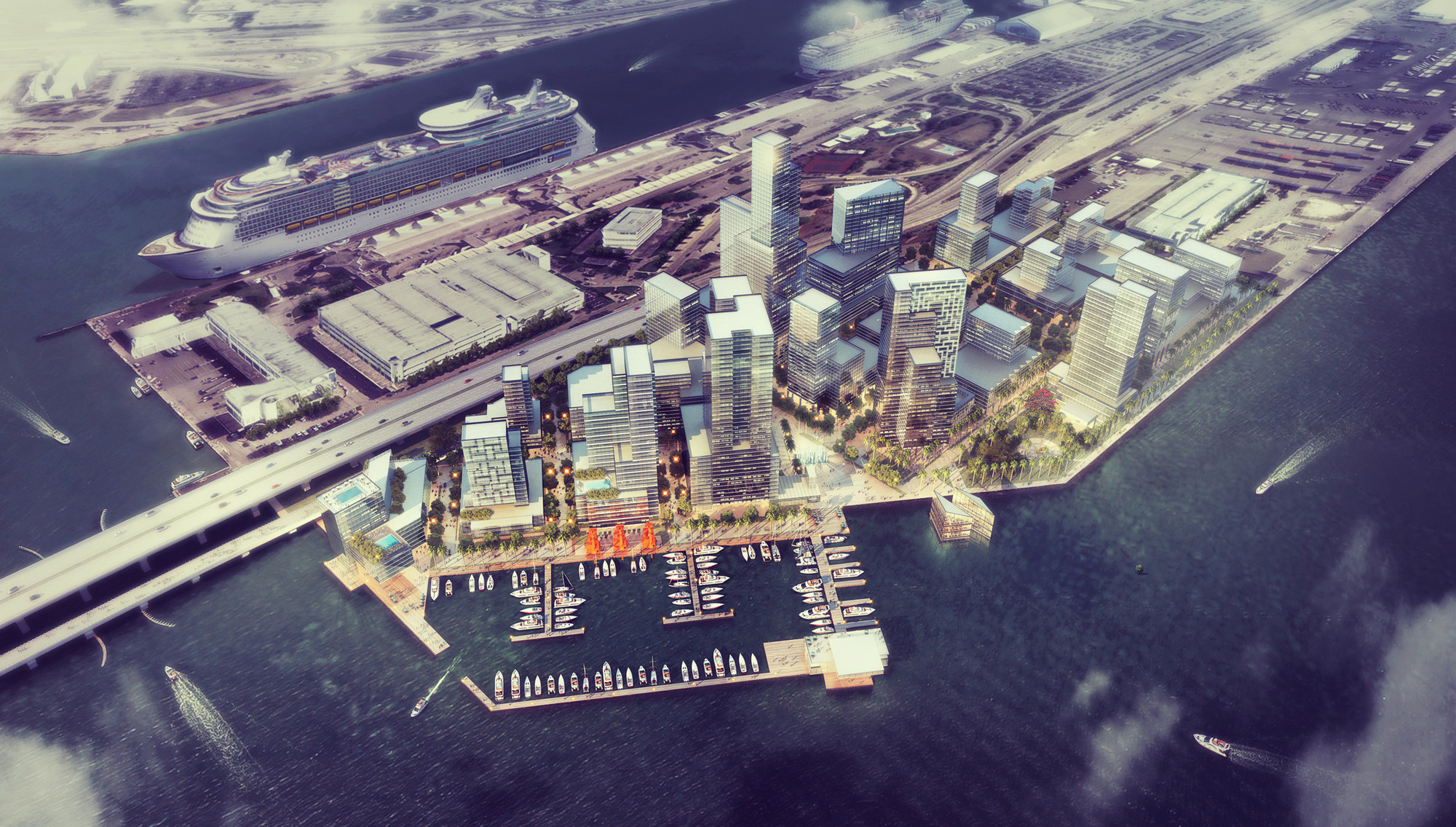 Port-Side Miami / PlusUrbia Design, Courtesy of PlusUrbia