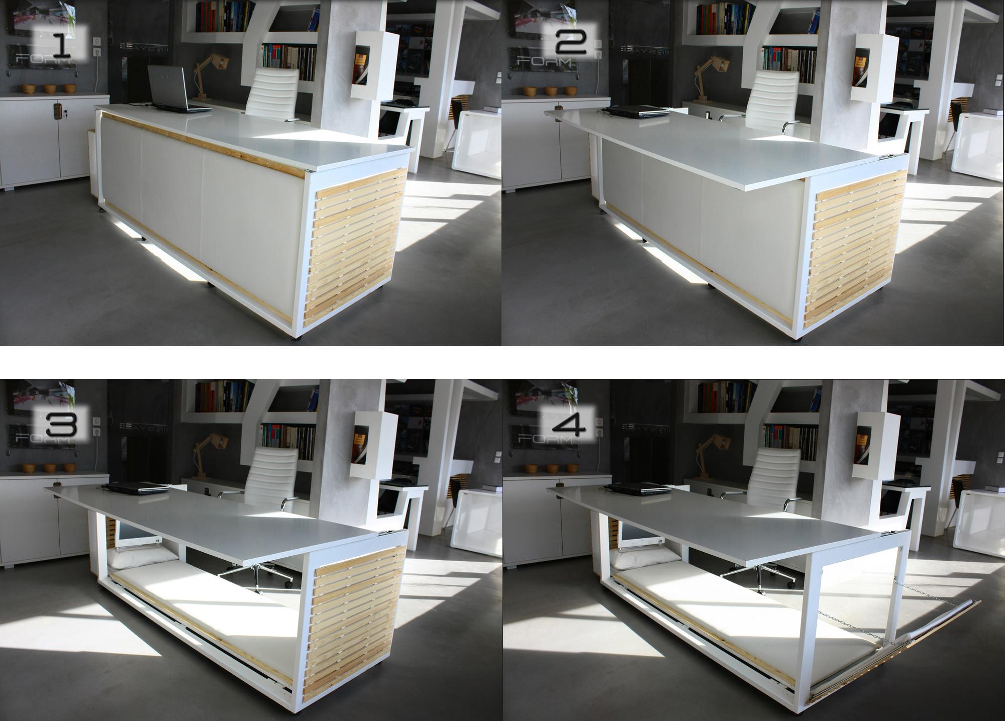 Resultado de imagen para cama que se convierte en escritorio