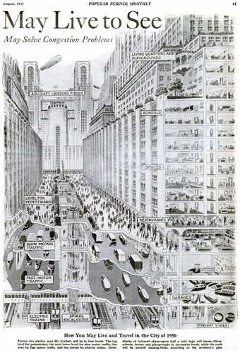 Harvey W. Corbett's American City of Tomorrow - Vía TECHi