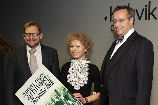 Heldur Meerits, Veronika Valk and President Ilves