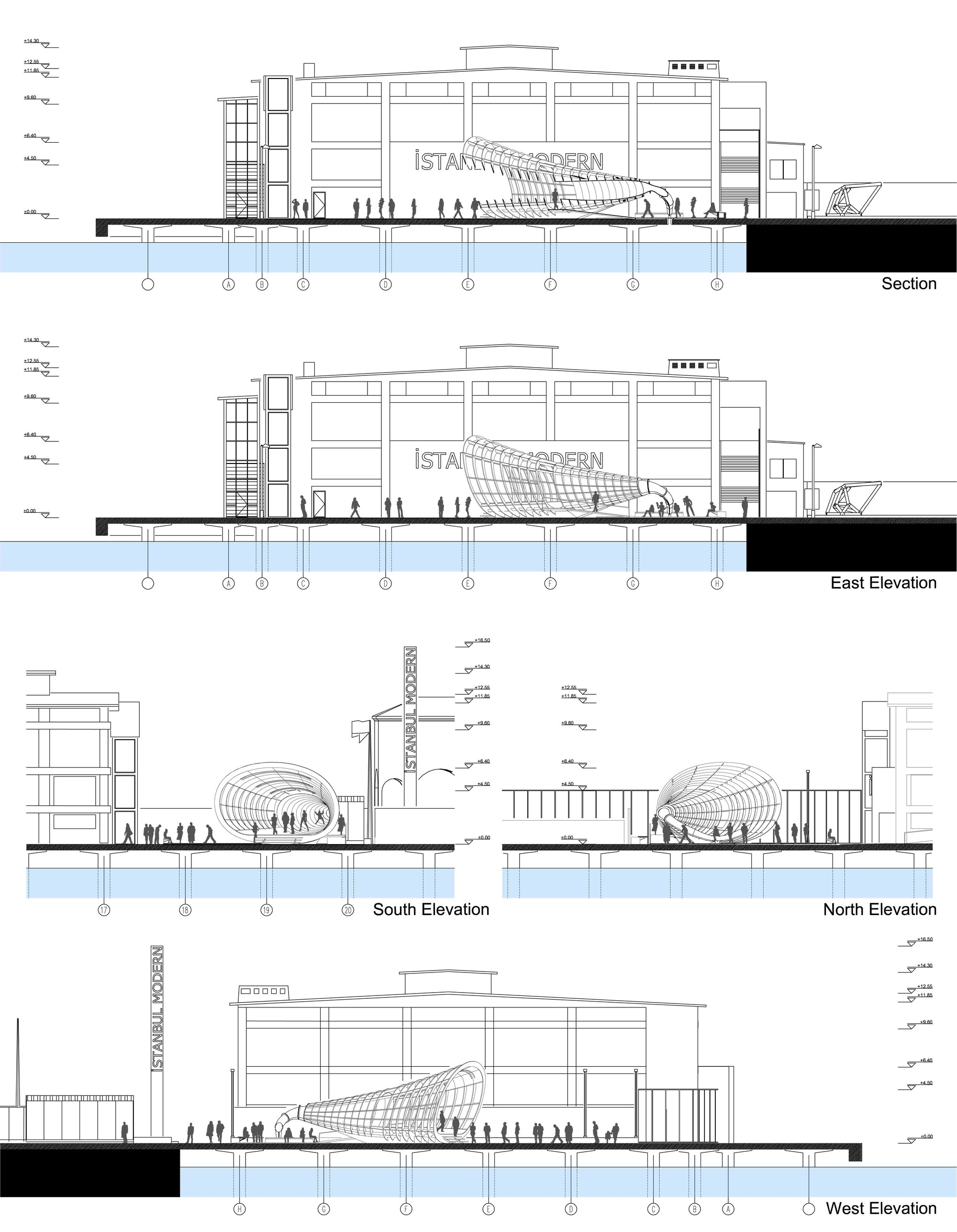 'Seapeaker' YAP Istanbul Modern Proposal / Evren Başbuğ, İnanç Eray, Meriç Kara, Engin Ayaz /
