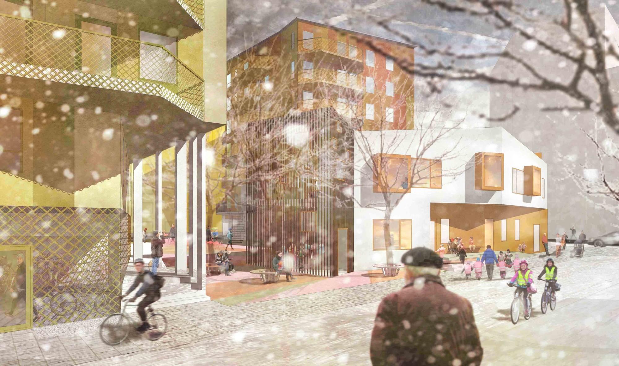 Årstafältet Housing Proposal / GRAD Arkitekter, © Ásdís Andersdóttir