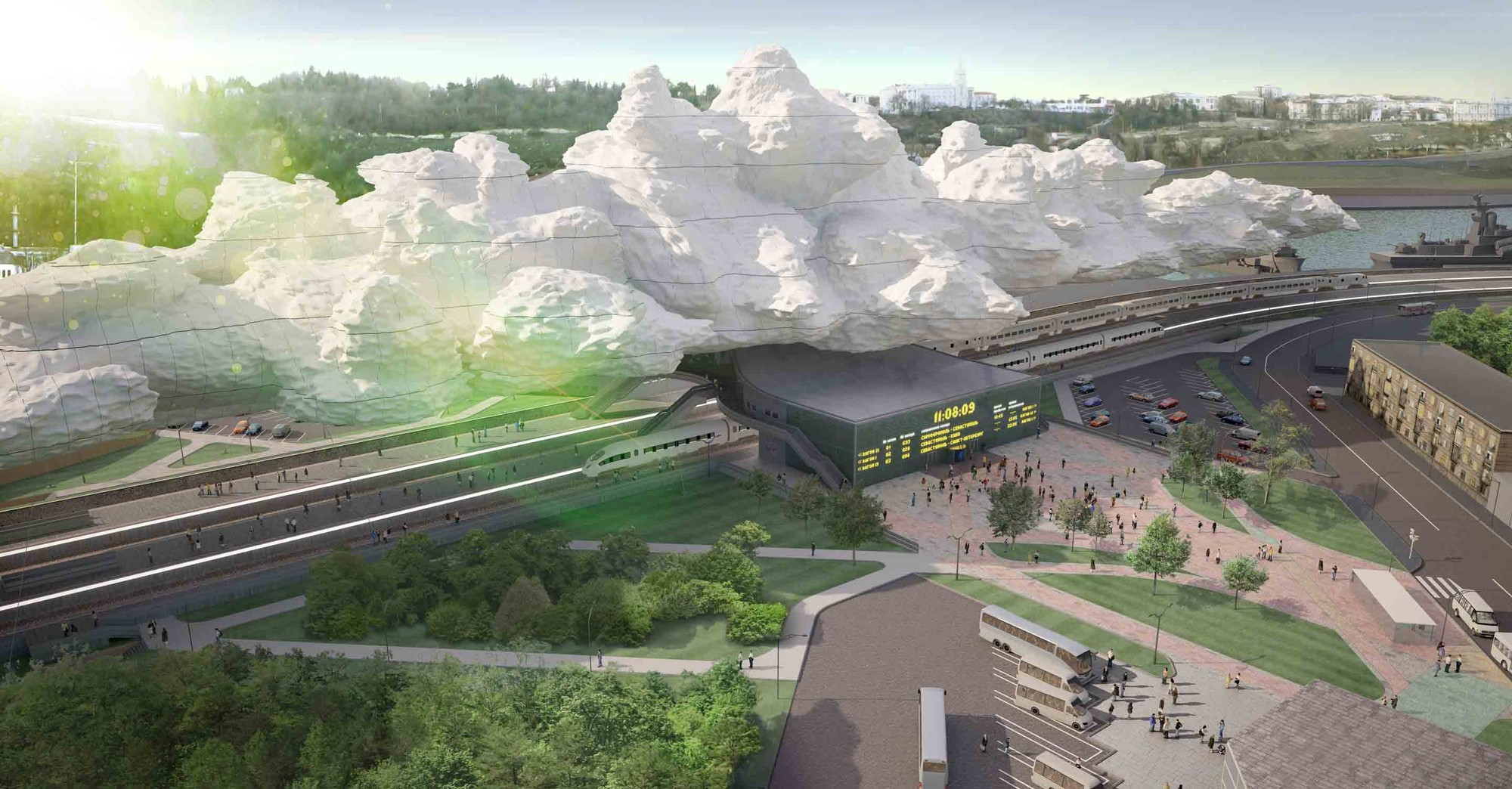 'Under the Cloud' Railway Station Proposal / Arthur Kupreychuk, Courtesy of Arthur Kupreychuk