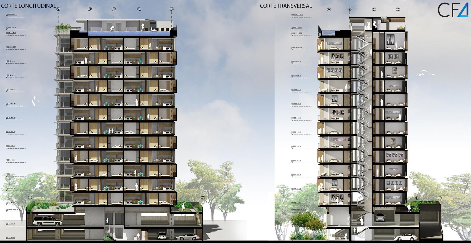 Galer a de primer lugar proyecto puerto salguero lgn for Arquitectura nota de corte