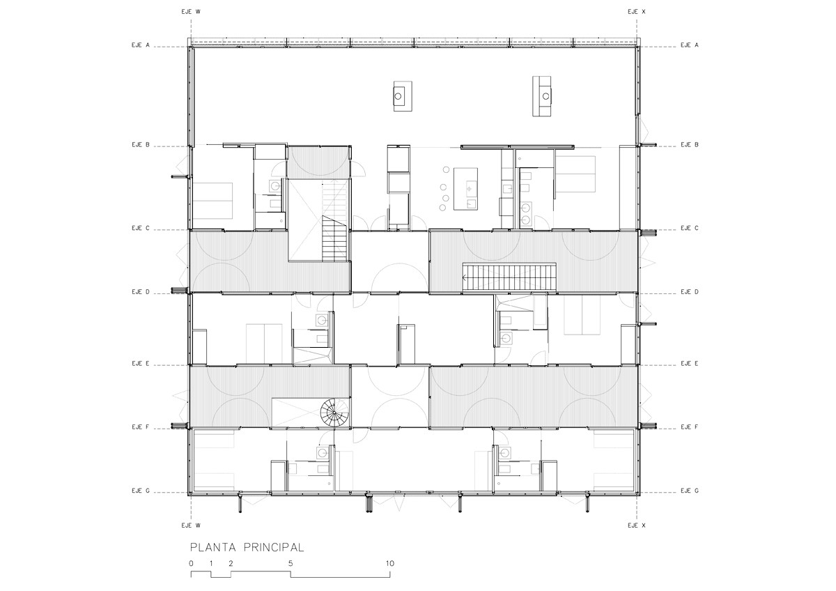 Guarda Vertical Baño:Casa OS / Nolaster
