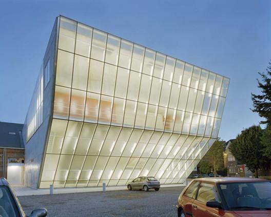 """Teatro """"Le Manege.Mons"""" / Atelier d'architecture Pierre Hebbelinck, © Marie- Noëlle Dailly"""