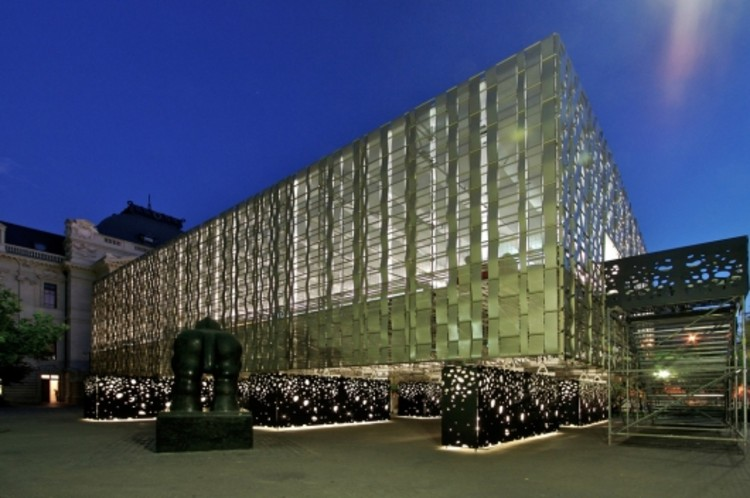 Montaje XVI Bienal de Arquitectura / Assadi  + Pulido, © Nico Saieh