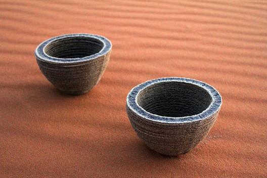 Markus Kayser (German, born 1983) Solar-sintered bowl. 2011. Fused sand  3 1/2 x diam. 6″ (8.9 x 15.2 cm) Gift of the designer Photo courtesy of the designer