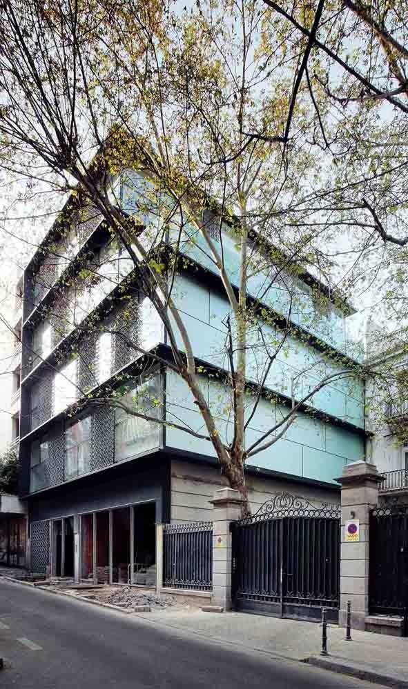 4 Viviendas, Local y Garaje. Calle Orfila. Madrid / Abalos + Sentkiewicz arquitectos, © José Hevia