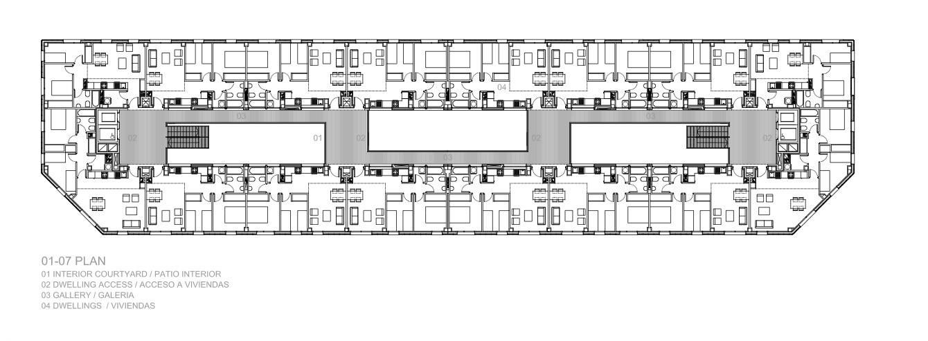 planta tipo 2do a 7mo piso